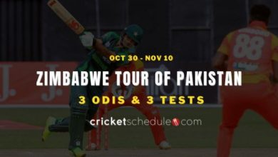 Photo of Pakistan vs Zimbabwe 2020 Schedule with Timing & Venues for all T20 & ODI Matches | PAK vs ZIM 2020