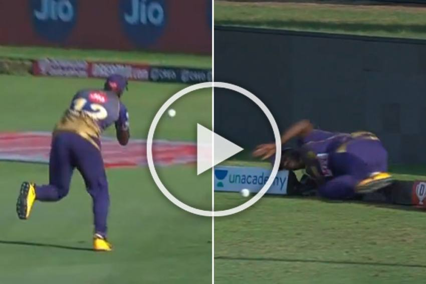 Photo of IPL 2020, KKR Vs KXIP: Andre Russell Drops Sitter, Then Injures Himself – WATCH