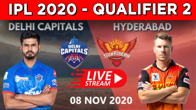 Qualifier 2 IPL 2020 LIVE STREAM DC vs SRH