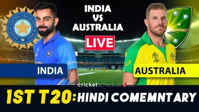 IND vs AUS - 1st T20I live stream