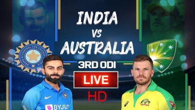 India vs Australia 3rd ODI live