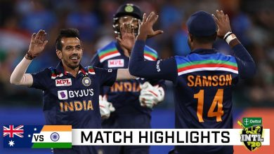 Australia vs India 1st T20I Match Highlights