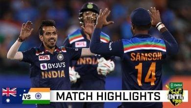 Australia vs India 1st T20I Match Highlights